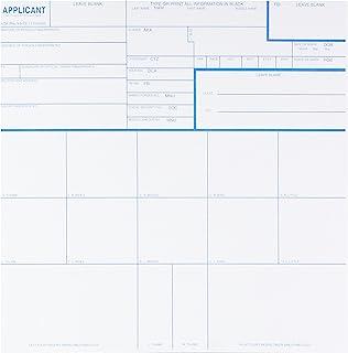 联邦调查局 CS-10PK 指纹卡,申请人 Fd-258,10 件