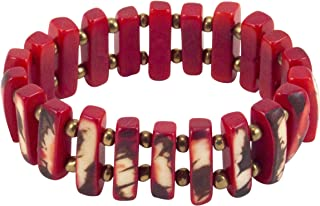 Organic Tagua Jessica 表链式 红色