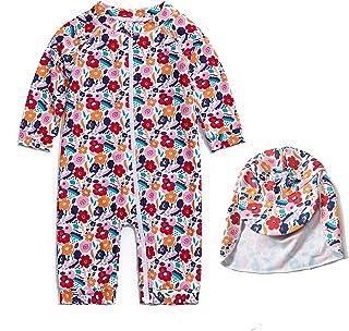 女婴连体 UPF 50+ *全拉链泳衣/日光服