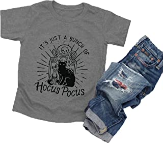 万圣节 T 恤幼儿男孩女孩 It's Just A Bunch of Hocus 衬衫婴儿图案 T 恤上衣