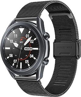 Senter 替换表带兼容三星 Galaxy Watch3 45 毫米/Galaxy Watch 46 毫米表带,可调节配件不锈钢运动腕带,男女适用