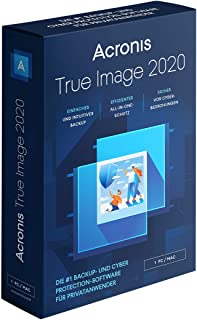 Acronis True Image 2020 | 1 PC/Mac | 永久许可证 | 个人网络保护 | 集成备份和*毒 | 完整版本:含英语 - 德语盒
