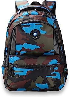 Sarhlio 儿童背包 15 英寸(约 38.1 厘米)适合男孩和女孩,带迷彩 迷彩蓝色
