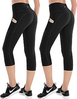 ESPIDOO 女式高腰瑜伽裤 收腹健身裤 4 向弹力打底裤 带口袋