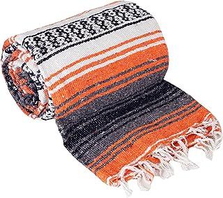 "Canyon Creek Authentic Mexican Yoga Falsa 毛毯 橙色 76"" L x 53"" W"