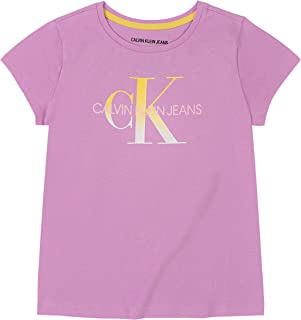 Calvin Klein 女童 CK 标志 T 恤