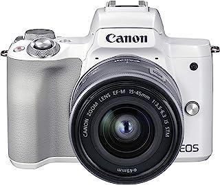Canon 佳能 EOS M50 Mark II + EF-M 15-45mm - 白色