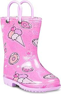 ZOOGS 儿童带手柄雨靴,小童和幼儿,男孩和女孩 冰淇淋 11 Little Kid