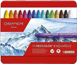 Caran d'Ache 经典Neocolor II水溶性粉彩 15种颜色