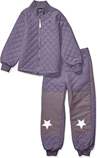 MIKK-Line - 麦尔登男孩绗缝保暖上衣和下雪套装