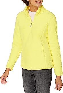 Amazon Essentials 女士摇粒绒内衬羊羔绒四分之一拉链夹克