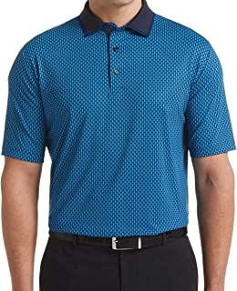 Callaway 男式短袖全身印花摇摆科技 Polo 衫