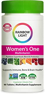 Rainbow Light 女性复合维生素,含维生素 C、维生素 D 和锌,7 种关键营养素的吸收,非转*,素食和无麸质,90 片
