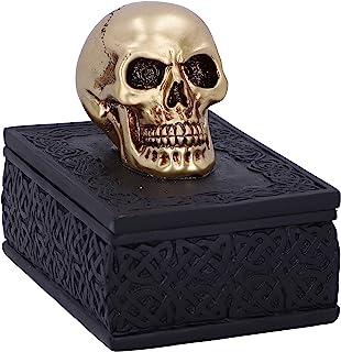 Nemesis Now Celtic Opulence 金色骷髅黑色饰品盒,11.8 厘米