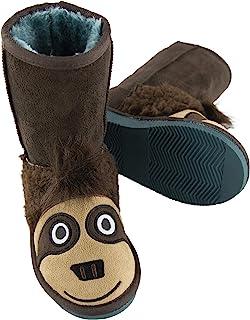 LazyOne 儿童可爱动物图案拖鞋-男孩和女孩生物拖鞋