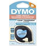 "Dymo 16952 1/2"" X 3' 透明字母标签塑料标签"