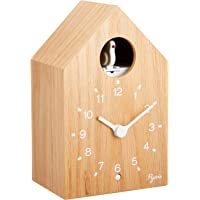 SEIKO 精工 时钟 挂钟 座钟 兼用 模拟 布谷鸟钟 计时 PYXIS 木制 自然色木 NA609A SEIKO