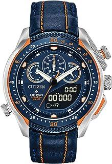 Citizen 西铁城 Eco-Drive Promaster SST 蓝色皮革表带手表 JW0139-05L 男士