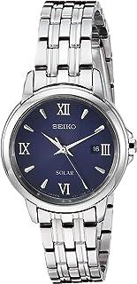 """Seiko 女士""""女士礼服""""石英不锈钢手表,颜色:银色调(型号:SUT347)"""