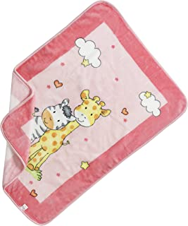 Baby Elegance Jungle Buddies Spanish blanket (80 x 110 cm, Pink)