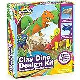 儿童创意儿童恐龙手工套件 - 艺术和手工艺品 适合 6-12 岁男孩使用 - 制作您自己的工艺品恐龙,带空气干燥模型粘土…