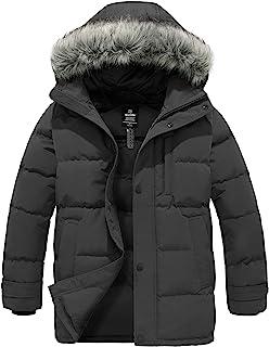 Wantdo 男式羽絨夾克冬季加厚外套保暖羽絨夾克雪外套帶毛皮帽