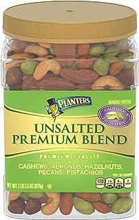 PLANTERS 无盐坚果,含烤开心果,腰果,杏仁,榛子和胡桃,不含人造香料或色素,2磅 2.5盎司(978g)