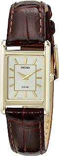 Seiko 女式 SUP252 模拟显示日本石英棕色手表