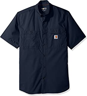 Carhartt 男式 Force Ridgefield 纯色短袖衬衫