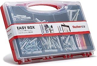 Fischer 513433 套件简易盒式各式卸装螺栓和螺丝,用于安装满满壁,灰色,一套 136 件