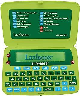 LEXIBOOK Lexibook-SCR8FR 官方电子词典 Scrabble ODS8 Larousse FISF、字母、Arbitre 拼写、400,000 个单词、定义、4 个游戏、电池、*/红色、SCR8FR