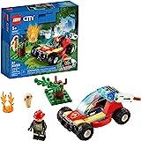 LEGO City Forest Fire 60247 消防员玩具,儿童酷炫搭建玩具,202020(84 件)