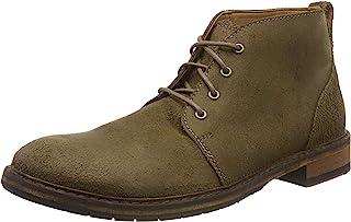 Clarks 男士 经典踝靴 Clarkdale base 系带短靴