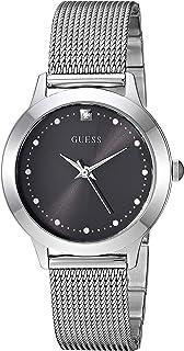 Guess 女式石英不锈钢休闲手表,颜色:银色调(型号:U1197L1)