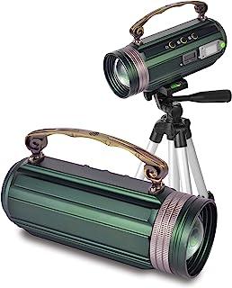 OTYTY 钓鱼灯 便携式 30W 超亮可充电变焦夜用钓鱼灯探照灯户外露营应急灯灯 4 种颜色模式,防水适用于钓鱼迷