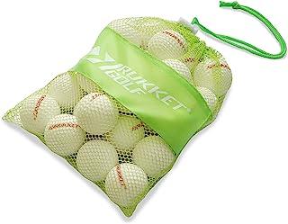 Rukket Sports Tru-Spin 泡沫练习高尔夫球   12 个装高*泡沫限量飞行高尔夫练习球   经典白色或夜光黑色