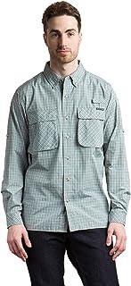 ExOfficio Men's Air Strip Micro Plaid Long Sleeve Shirt