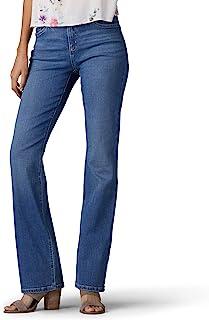 Lee 女士弹性运动常规修身喇叭牛仔裤