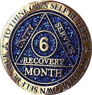 6 个月 AA *章反射蓝色闪光镀金清醒芯片