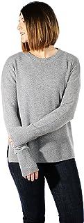 Gigi Reaume * 羊绒柔软女式毛衣,舒适圆领套头衫,超大码