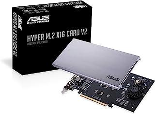 华硕Hyper M.2 X16 PCIe 3.0 X4扩展卡V2 支持4个NVMe M.2(2242/2260/2280/22110)高达128 Gbps,适用于Intel VROC和AMD Ryzen Threadripper NVMe Raid