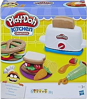 Hasbro 孩之宝 Play-Doh 培乐多 E0039EU4 烤面包机胶泥,适用于想象力和创意游戏