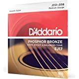 D'Addario EJ15 磷青铜原声吉他弦EJ17 1 件装 Medium, 13-56