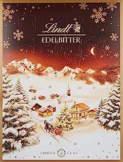 Lindt 瑞士莲 圣诞日历巧克力 微苦黑巧克力 1件装 (1 x 250克)