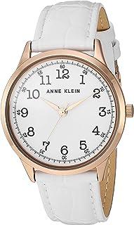 Anne Klein Women's Easy to Read Leather Strap Watch, AK/3560
