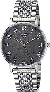 Tissot 男式石英不锈钢休闲手表,颜色:灰色(型号:T1094101107200)