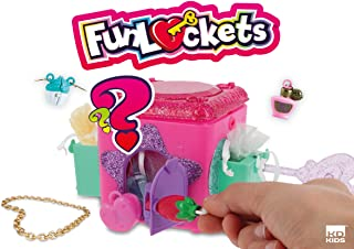 KD KIDS Funlockets S18200 秘密盒陈列柜,16 件,粉色,紫色