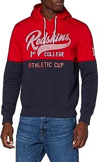 Redskins 男式酒瓶海报连帽运动衫 *蓝/红色 S