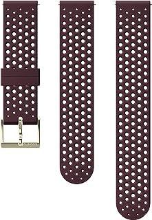 Suunto 颂拓 表带,20 毫米,硅胶,酒红色 - 运动款,S+M:120-230 毫米