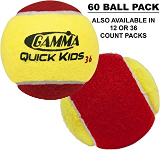 Gamma Sports Kids Training (Transition) Balls - 60 Orange Dot, 78 Green Dot, Quick Kids 36-60-78